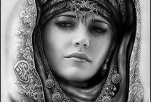 Beautiful moslem lady
