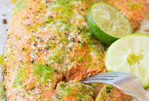Fish / Zesty baked salmon