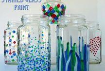 frascos pintadosd manualidades