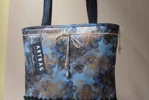 New printed denim bag