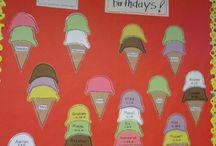 Kindergarten Birthday Bulletin Boards