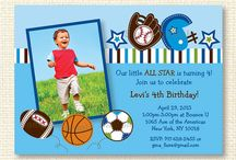 Sports Theme Baby Shower/Birthday Party / Adorable designs for a sports themed party!