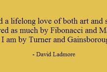 Quotes from David Ladmore / artist statement, inspiration, creative process, technical process of painting, painting materials...