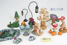 miniature clay garden