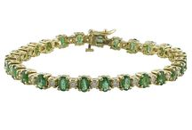 Wear It On Saint Patrick's Day / Emerald jewelry to compliment your St. Patty's Day look!