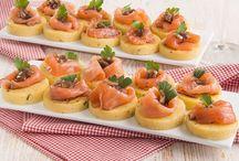 Tartine polenta e salmone