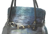 Mohair Handbags / Handbags made with Mohair and Leather