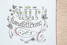 handlettering by @Sweethandlettering