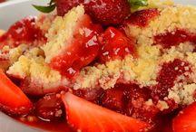 Rhubarb strawberry crunch / Desert
