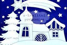 Vánoce - ozdoby na okna