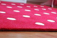 Red Kids Rugs / Red kids rugs for playroom, children's bedroom or baby's nursery.