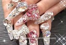 Jeweled nails / CrystalCoutureInc.com / by Crystal Couture Inc