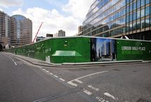 Advertising Hoarding | London Wall Place / To keep up to date with latest projects visit www.octink.com