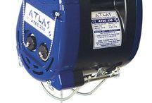 HALATLI VİNÇLER / Atlas halatlı vinçler hafif ağırlıklı işler için üretilmiş profesyonel kullanım vinçlerdir. Amatör vinçlerdir. Günlük hayatta kullanılan monofaze halatlı vinçler.