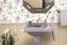 Обои для ванной Bathroom interior
