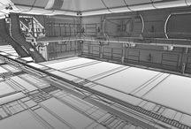 Sci Fi Hangar Interior 3D Model