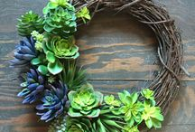 Wreaths for every season / Who says wreaths are just for Christmas? With such beautiful inspiration, you'll be tempted to style your home with wreaths through Spring, Summer and Autumn too.