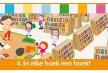 In elke hoek een boek! / Tijdens dit thema sluiten we aan bij De Nationale Voorleesdagen van 21 t/m 31 januari en Het Voorleesontbijt. Alles staat in het teken van boeken lezen, boeken maken en de bibliotheek. Zo maken de kinderen een pasje voor de bibliotheek, gaan ze op bezoek bij een bibliotheek, en maken ze in de drukkerij een heus boek. 21 januari vindt Het Voorleesontbijt plaats, de eerste dag van De Nationale Voorleesdagen.