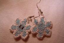 cross stitch jewellery