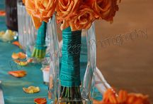 Turquoise and Orange Wedding