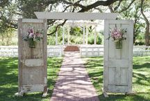 Outdoor wedding decor and doors