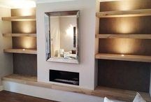 Fireplace alcove