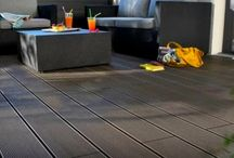 outdoor WPC solid flooring / Outdoor Wood Plastic Composite flooring high quality wholesale in uk