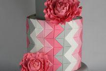 Bolos Geométricos / Inspiração em diversos artistas e ateliers de cake design do Brasil e do mundo.