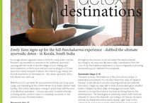 OM magazine article / Emily Yates signs up for the full Panchakarma experience - dubbed the ultimate ayurvedic detox - in Kerala, South India