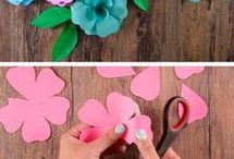 flores papel decor