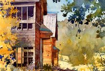 Richard Sneary-Contemporary Watercolours / (US) An architect and renowned architectural illustrator, Richard Sneary has over the last 3 years also begun painting en plein air in watercolor.