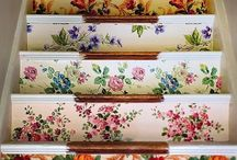 Stair Inspiration / From mixed up florals to crazy paints here's some creative ideas for brightening up your own staircase! / by Graham & Brown