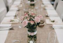 svatebni vyzdoba stolu