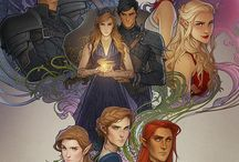 The court of thorns and roses,Throne of glass series,HP