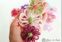 Loom, Crochet or Decorative Flowers