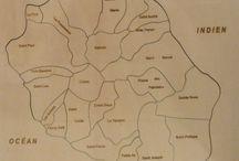 Puzzle géographique artisanal Carte Ile Reunion