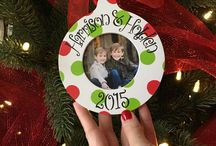 Personalized Christmas Frame Ornaments