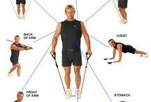 gumový pás cvičenie