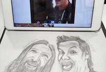 I draw Chris Jericho / ジェリコ描いてます