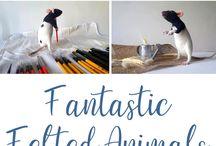 Needlework / needlework, embroidery, wool felting, fiber art, sewing