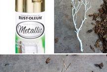 metalic spray.  branches
