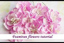 Foamiran flowers