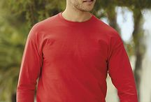 Férfi hosszú ujjú póló Fruit of the Loom Value Weight LS T-Shirt