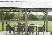 Outdoor eating areas and lighting