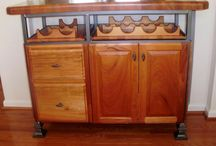Wine/liquor storage / We have a large variety of handmade baskets for wine, as well as, custom wine units that will store your favorite bottles of wine.