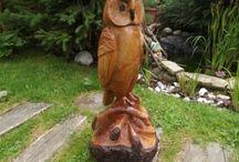 Sochy ze dřeva / Handmade, sochy, sochařství