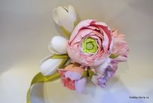 цветы.фоам.бумага