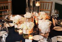 Venue Ideas / Both Reception & Ceremony. Includes Draping, Centerpieces, & other details