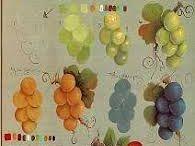 Folk art fruits