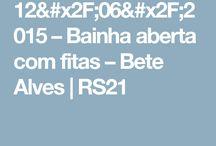 BAINHA ABERTA E BORDADOS
